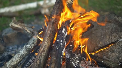 campfire closeup footage, 4K Ultra HD video
