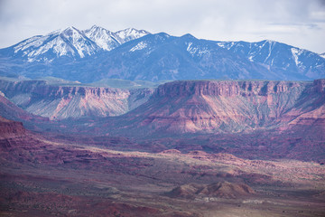 Dome Plateau La Sal Mountains professor valley overlook utah