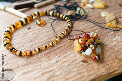 Ancient amber necklace