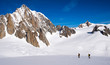Skiing on the Vallee Blanche from Courmayeur, Italy