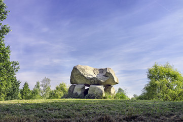 Dolmen,  solar calendar reproduction color image