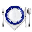 Plate with spoon, knife and fork - 65843824
