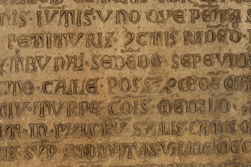 ancient stone with latin text