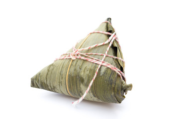 Chinese ZongZi on white for Dragon Boat Festival