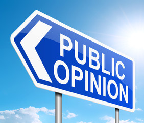 Public opinion concept.