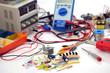 Leinwanddruck Bild - Elektronikerwerkstatt