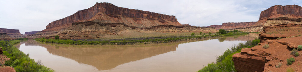 Panoramic Shot of Fort Bottom Trail White Rim Road Utah