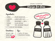 Recipe for Love creative Wedding Invitation - 65845482