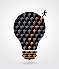 Creative thinking solution business concept illustration with a