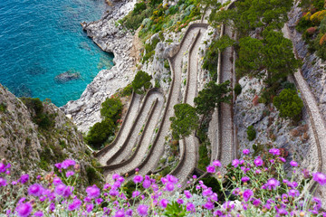 Capri, Via Krupp, Italy.