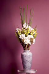 bouquet of white orchid  in a vase