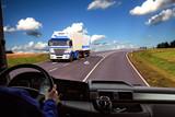 Fototapety truck cockpit