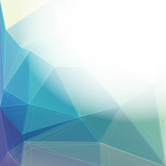 Abstract shiny polygonal background - place for your text