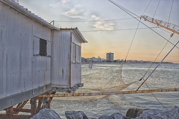 Fishing hut on the harbour channel