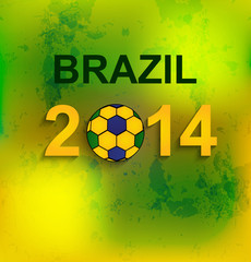 Beautiful Brazil flag colors concept texture soccer ball vector