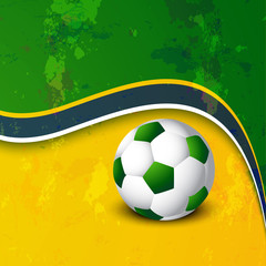 Beautiful Brazil colors concept wave colorful soccer ball backgr