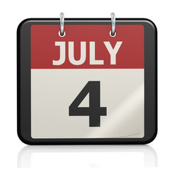 July 4, Independence Day calander