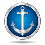 Silver anchor icon.