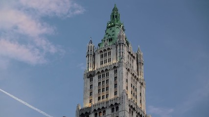 Woolworth Building's crown at Manhattan.  NYC, USA.