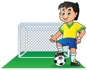 Soccer theme image 1