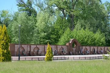 Kaliningrad. Slava's wall in Victory park