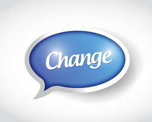 change bubble message illustration design
