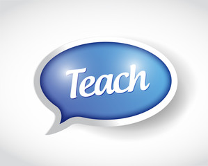 teach message bubble illustration design
