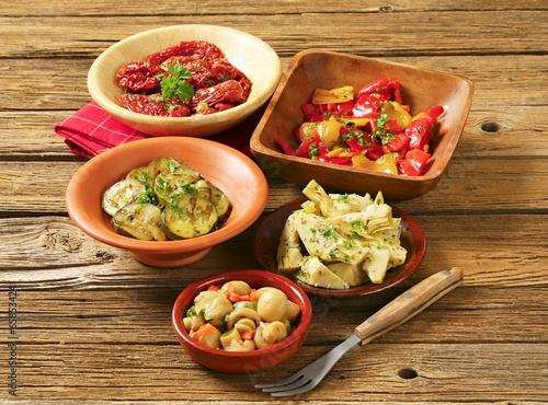 Assorted marinated vegetables