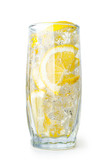 lemon drink with ice cubes