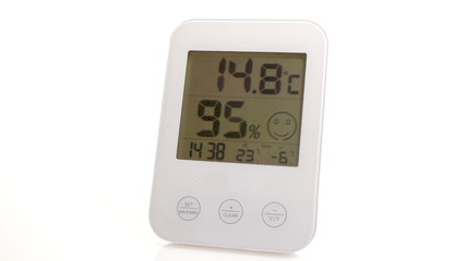 HD - Electronic thermometer. Global warming