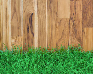 garden fence wood and grass