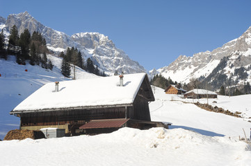 Winter landscape of Engelberg