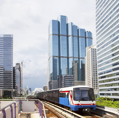 BTS Electric Railway Sky Train at Bangkok Thailand sky train mos