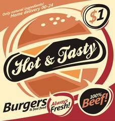 Banner design for fast food restaurant