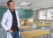 Teacher in white robe