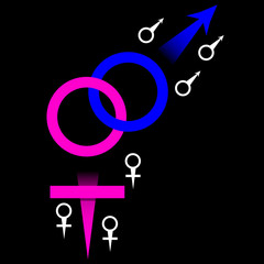 Linked Male and Female Symbols