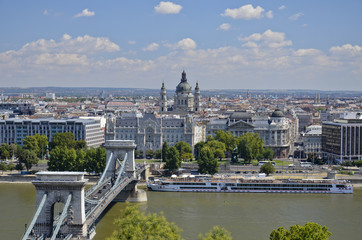 Vista panoramica di Budapest.