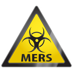 MERS virus warning sign