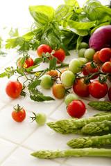 家庭菜園での収穫