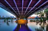 Widok stalowego mostu w Warszawie - 65860025