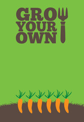 Grow Your Own poster_Carrots
