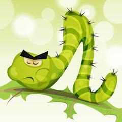 Funny Caterpillar Character