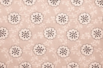 textured background of cotton fabric brown color