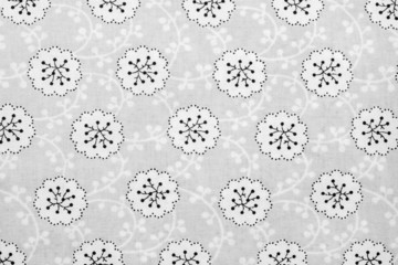 textured background of cotton fabric gray color