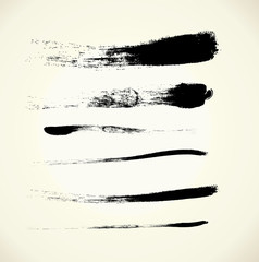Vector set brush strokes, EPS 10