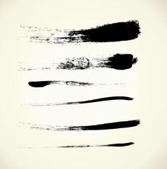 Vector set brush strokes, EPS 10