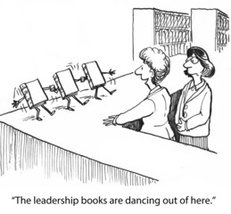 """The leadership books are dancing out of here."""