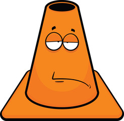 Traffic Cone Cartoon Tired