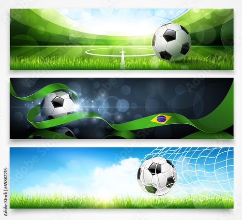 Set of football banners. Vector