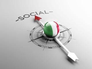 Italy Social Concept